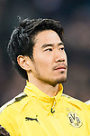 Borussia Dortmund Midfielder Shinji Kagawa getting into the field during the Europe Champions League 2017-18 match between Real Madrid and Borussia Dortmund at Santiago Bernabeu Stadium on 06 December 2017 in Madrid Spain. Photo by Diego Gonzalez / Power Sport Images