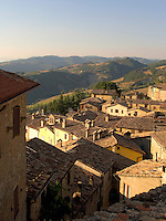 Rooftop view of the Umbrian hilltown of Montone Ital