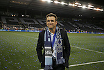 08 August 2012: Kansas City owner and team president Robb Heineman enjoys a moment to himself after the game. Sporting Kansas City won the championship over Seattle Sounders FC 3-2 on penalties after the game ended in a 1-1 tie at Livestrong Sporting Park in Kansas City, Kansas in the 2012 Lamar Hunt U.S. Open Cup Final.