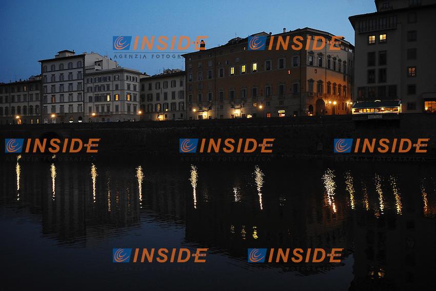Firenze Lungarno.Firenze 27/3/2012.Foto Insidefoto / Guido Aubry