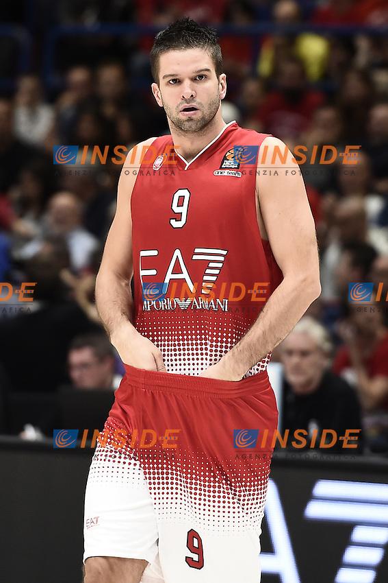Milano 27/10/2016 - basket Eurolega / EA7 Milano - Real Madrid / foto Daniele Buffa/Image Sport/Insidefoto<br /> nella foto: Mantas Kalnietis