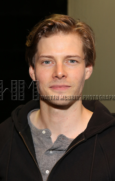 "Hunter Parrish attends the Cast photo call for the Vineyard Theatre production of ""Good Gfief"" on September 12, 2018 at the Vineyard Theatre in New York City."