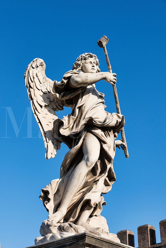 Angel with the Sponge, Ponte Sant'Angelo bridge, Rome, Italy
