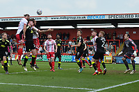 Fraser Franks of Stevenage heads wide during Stevenage vs Cambridge United, Sky Bet EFL League 2 Football at the Lamex Stadium on 14th April 2018