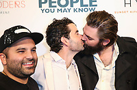 LOS ANGELES, CA - NOVEMBER 13: Sherwin Shelati, Nick Rutherford and Nick Thune at People You May Know at The Pacific Theatre at The Grove in Los Angeles, California on November 13, 2017. Credit: Robin Lori/MediaPunch /NortePhoto.com