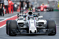 March 25, 2017: Lance Stroll (CAN) #18 from the Williams Martini Racing team leaves the pits for the qualifying session at the 2017 Australian Formula One Grand Prix at Albert Park, Melbourne, Australia. Photo Sydney Low