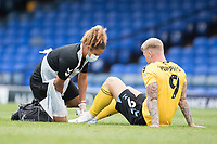Stephen Humphrys, Southend United, receives attention during Southend United vs West Ham United Under-21, EFL Trophy Football at Roots Hall on 8th September 2020