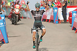Rafal Majka (POL) Bora-Hansgrohe wins Stage 14 solo of the 2017 La Vuelta, running 175km from &Eacute;cija to Sierra de La Pandera, Spain. 2nd September 2017.<br /> Picture: Unipublic/&copy;photogomezsport | Cyclefile<br /> <br /> <br /> All photos usage must carry mandatory copyright credit (&copy; Cyclefile | Unipublic/&copy;photogomezsport)