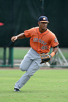 Houston Astros outfielder Brauly Mejia (45) during practice before an Instructional League game against the Atlanta Braves on September 22, 2014 at the ESPN Wide World of Sports Complex in Kissimmee, Florida.  (Mike Janes/Four Seam Images)