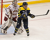 Katie Burt (BC - 33), Mikyla Grant-Mentis (Merrimack - 13) - The number one seeded Boston College Eagles defeated the eight seeded Merrimack College Warriors 1-0 to sweep their Hockey East quarterfinal series on Friday, February 24, 2017, at Kelley Rink in Conte Forum in Chestnut Hill, Massachusetts.The number one seeded Boston College Eagles defeated the eight seeded Merrimack College Warriors 1-0 to sweep their Hockey East quarterfinal series on Friday, February 24, 2017, at Kelley Rink in Conte Forum in Chestnut Hill, Massachusetts.