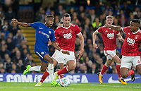 Charly Musonda of Chelsea against the Forest defence during the Carabao Cup (Football League cup) 23rd round match between Chelsea and Nottingham Forest at Stamford Bridge, London, England on 20 September 2017. Photo by Andy Rowland.