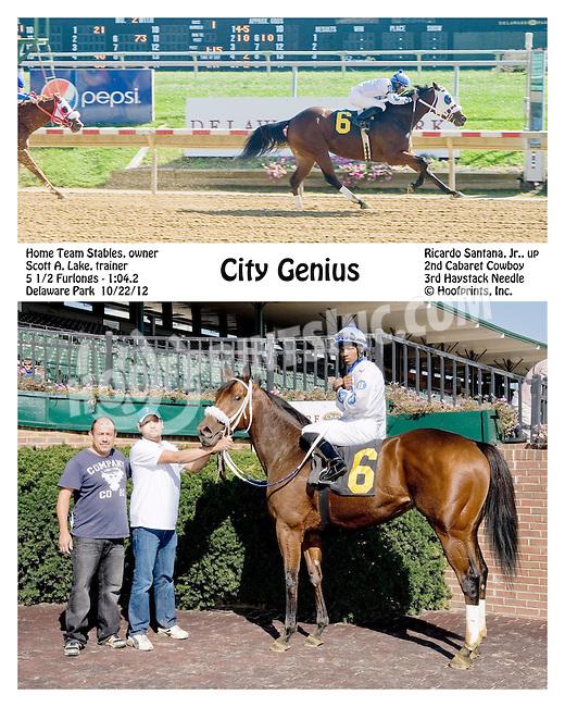 City Genius winning at Delaware Park on 10/22/12