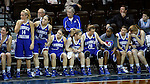 SIOUX FALLS MARCH 22:  Players on the Lubbock Christian bench join hands in the closing seconds of a close contest during their quarterfinal game at the NCAA Women's Division II Elite 8 Tournament at the Sanford Pentagon in Sioux Falls, S.D. (Photo by Dick Carlson/Inertia)