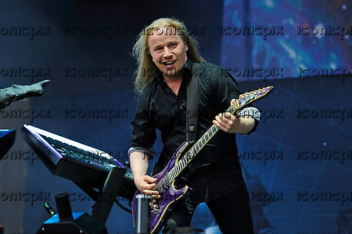 NIGHTWISH - guitarist Emppu Vuorinen - performing live on Day Three on the Lemmy Stage at the Download Festival at Donington Park UK - 12 Jun 2016.  Photo credit: ZAine Lews/IconicPIxi