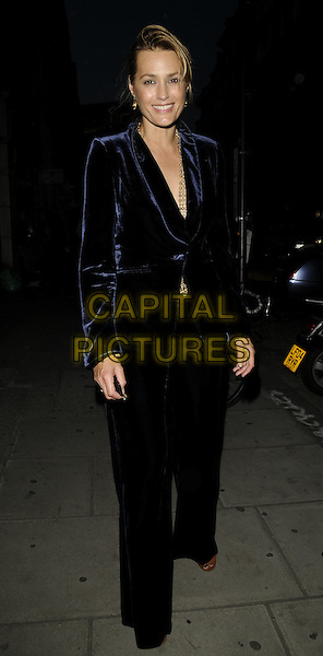 DAISY LOWE.The Beth Ditto For Evans launch party, Sketch bar & club, London, England..July 1st, 2009.full length black leather jacket cream top jean denim short cut offs belly stomach midriff .CAP/CAN.©Can Nguyen/Capital Pictures.