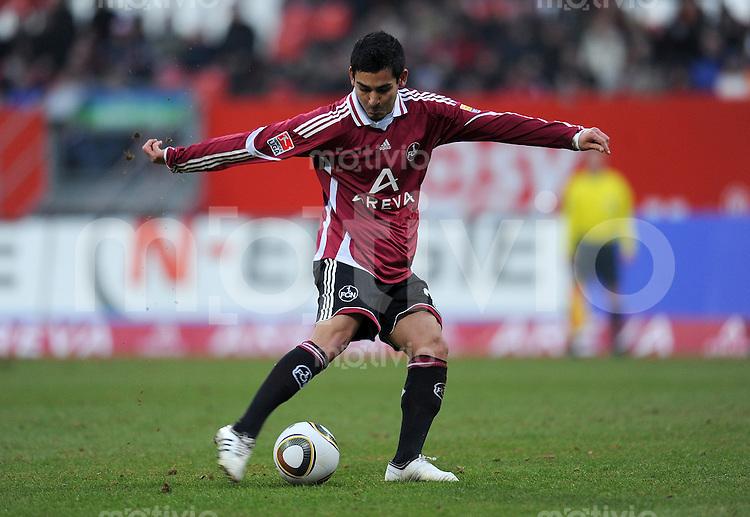 Fussball 1. Bundesliga :  Saison   2009/2010   14. Spieltag  23.01.2010 1 FC Nuernberg - Eintracht Frankfurt Ilkay Guendogan  (1 FC Nuernberg)