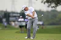 Bob Sowards (USA) plays his 2nd shot on the 1st hole during Thursday's Round 1 of the 2014 PGA Championship held at the Valhalla Club, Louisville, Kentucky.: Picture Eoin Clarke, www.golffile.ie: 6th August 2014