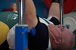 Australia's Darren Gardiner concentrates on the task ahead as he works through a training session prior to competition in the men's over 100kg powerlifting class, at the Beijing Paralympic Games. Darren went on to win a silver medal in his event with a lift of 230kg.