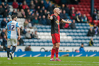 BLACKBURN, ENGLAND - JANUARY 24: Jonjo Shelvey of Swansea City holds his arms out   during the FA Cup Fourth Round match between Blackburn Rovers and Swansea City at Ewood park on January 24, 2015 in Blackburn, England.  (Photo by Athena Pictures/Getty Images)