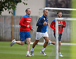 David Weir and Jamie Ness training with the physio