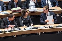 4. Plenarsitzung der 18. Wahlperiode des Berliner Abgeordnetenhaus am Donnerstag den 12. Januar 2017.<br /> Im Bild vlnr.: Klaus Lederer, stellv. Buergermeister und Senator fuer Kultur und Europa (Linkspartei); Ramona Pop, stellv. Buergermeisterin und Senatorin fuer Wirtschaft, Energie und Betriebe (B90/Gruene); Michael Mueller, regierender Buergermeister (SPD).<br /> 12.1.2017, Berlin<br /> Copyright: Christian-Ditsch.de<br /> [Inhaltsveraendernde Manipulation des Fotos nur nach ausdruecklicher Genehmigung des Fotografen. Vereinbarungen ueber Abtretung von Persoenlichkeitsrechten/Model Release der abgebildeten Person/Personen liegen nicht vor. NO MODEL RELEASE! Nur fuer Redaktionelle Zwecke. Don't publish without copyright Christian-Ditsch.de, Veroeffentlichung nur mit Fotografennennung, sowie gegen Honorar, MwSt. und Beleg. Konto: I N G - D i B a, IBAN DE58500105175400192269, BIC INGDDEFFXXX, Kontakt: post@christian-ditsch.de<br /> Bei der Bearbeitung der Dateiinformationen darf die Urheberkennzeichnung in den EXIF- und  IPTC-Daten nicht entfernt werden, diese sind in digitalen Medien nach §95c UrhG rechtlich geschuetzt. Der Urhebervermerk wird gemaess §13 UrhG verlangt.]