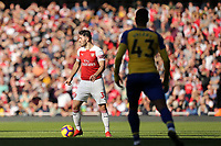 Sead Kolasinac of Arsenal and /Yan Valery of Southampton during Arsenal vs Southampton, Premier League Football at the Emirates Stadium on 24th February 2019