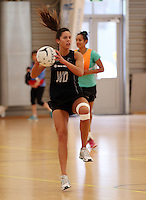 14.10.2014 Silver Ferns Kayla Cullen in action at the Silver Ferns Training ahead of their netball test match in Auckland tomorrow night. Mandatory Photo Credit ©Michael Bradley.