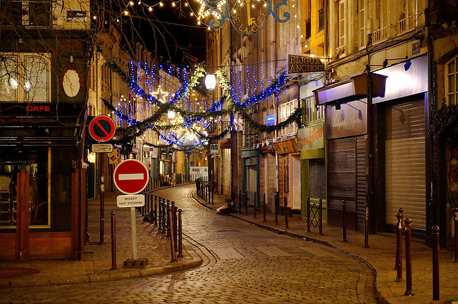 Christmas street decorations, Lille France