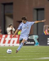 Colorado Rapids defender Facundo Erpen (3). The New England Revolution defeated the Colorado Rapids, 1-0, at Gillette Stadium in Foxboro, MA on September 29, 2007.