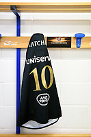 A general view of the jersey of Freddie Burns of Bath Rugby. European Rugby Champions Cup match, between Benetton Rugby and Bath Rugby on January 20, 2018 at the Municipal Stadium of Monigo in Treviso, Italy. Photo by: Patrick Khachfe / Onside Images