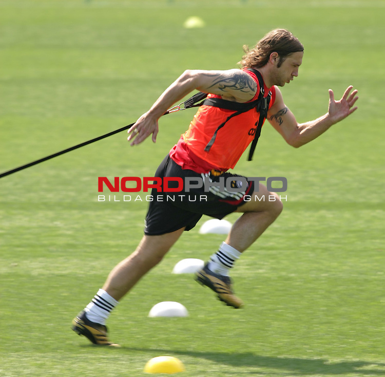 FIFA WM 2006 - Training - Germany<br /> Torsten Frings during a training session at the World Cup in Berlin (Stadion Wurfplatz). <br /> Foto &copy; nordphoto