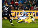 Nederland, Zwolle, 30 november 2012.Eredivisie.Seizoen 2012-2013.PEC Zwolle-VVV Venlo (0-0).Ronnie Reniers van PEC Zwolle en Niels Fleuren van VVV Venlo strijden om de bal