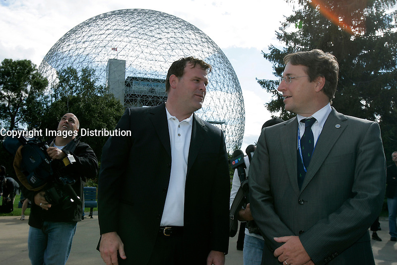Montreal (Qc) CANADA - July 16, 2007-<br />  file photo- <br /> John Baird, Environment Minister of canada , visit Montreal Biosphere.<br /> <br /> <br /> Photo (c)  Images Distribution