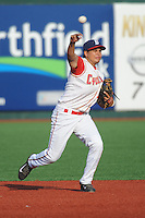Brooklyn Cyclones infielder Dimas Ponce (22) during game against the Staten Island Yankees at MCU Park on June 29, 2014 in Brooklyn, NY.  Staten Island defeated Brooklyn 5-4.  (Tomasso DeRosa/Four Seam Images)