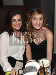 Aisling Towey and Megan Keane pictured at the Boots Christmas party in Brú. Photo:Colin Bell/pressphotos.ie