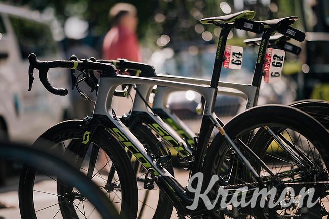 team Mitchelton Scott bikes ready to roll<br /> <br /> Stage 5: Lorient > Quimper (203km)<br /> <br /> 105th Tour de France 2018<br /> ©kramon