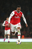 Joe Willock of Arsenal in action during Arsenal vs Standard Liege, UEFA Europa League Football at the Emirates Stadium on 3rd October 2019