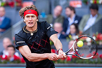 German Alexander Zverev during Finals of Mutua Madrid Open at Caja Magica in Madrid, Spain. May 13, 2018. (ALTERPHOTOS/Borja B.Hojas)