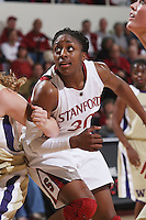 STANFORD, CA - JANUARY 16:  Nnemkadi Ogwumike of the Stanford Cardinal during Stanford's 66-51 win over the Washington Huskies on January 16, 2010 at Maples Pavilion in Stanford, California.