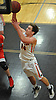 Gregory Forstner #14 of Babylon scores from inside the paint during a Suffolk County League VII varsity boys basketball game against Center Moriches at Babylon High School on Friday, Jan. 26, 2018. Center Moriches won by a score of 84-80.