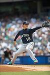 Hisashi Iwakuma (Mariners), JULY 18, 2015 - MLB : Hisashi Iwakuma of the Seattle Mariners pitches during the Major League Baseball game against the New York Yankees at Yankee Stadium in the Bronx, New York, United States. (Photo by Thomas Anderson/AFLO) (JAPANESE NEWSPAPER OUT)