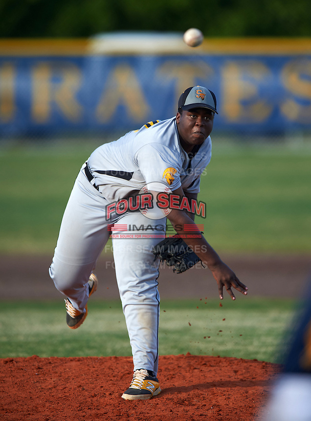 Lakewood Spartans pitcher Sean Thornton (14) during a game against the Boca Ciega Pirates at Boca Ciega High School on March 2, 2016 in St. Petersburg, Florida.  Boca Ciega defeated Lakewood 2-1.  (Mike Janes/Four Seam Images)