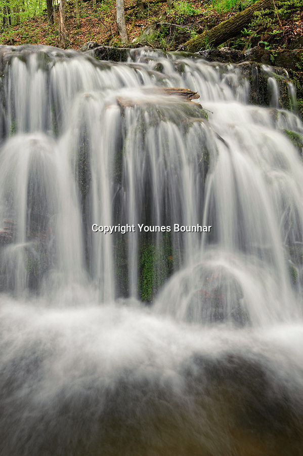 This hidden gem of a waterfall flows near Meech lake in the Gatineau Park