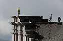 25/09/14 - SOMMET DU PUY DE DOME - PUY DE DOME - FRANCE - Travaux sur le Temple de Mercure - Photo Jerome CHABANNE