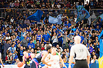 Movistar Estudiantes's Crowds during Liga Endesa ACB at Barclays Center in Madrid, October 11, 2015.<br /> (ALTERPHOTOS/BorjaB.Hojas)