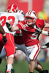 Wisconsin Badgers defensive back Andrew Lukasko (5) during an NCAA college football game against the Austin Peay Governors on September 25, 2010 at Camp Randall Stadium in Madison, Wisconsin. The Badgers beat the Governors 70-3. (Photo by David Stluka)