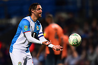 Blackburn Rovers' Danny Graham throws the ball<br /> <br /> Photographer Richard Martin-Roberts/CameraSport<br /> <br /> The Carabao Cup First Round - Tuesday 13th August 2019 - Blackburn Rovers v Oldham Athletic - Ewood Park - Blackburn<br />  <br /> World Copyright © 2019 CameraSport. All rights reserved. 43 Linden Ave. Countesthorpe. Leicester. England. LE8 5PG - Tel: +44 (0) 116 277 4147 - admin@camerasport.com - www.camerasport.com