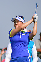 So Yeon Ryu (KOR) watches her tee shot on 16 during Thursday's first round of the 72nd U.S. Women's Open Championship, at Trump National Golf Club, Bedminster, New Jersey. 7/13/2017.<br /> Picture: Golffile | Ken Murray<br /> <br /> <br /> All photo usage must carry mandatory copyright credit (&copy; Golffile | Ken Murray)