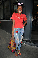 Annaliese Dayes at the Macmillan Charity Gala Night, Pizza Express, Dean Street, London, England, UK, on Wednesday 08 August 2018.<br /> CAP/CAN<br /> &copy;CAN/Capital Pictures