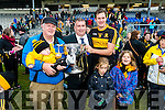 Bill and Noah Brosnan, Co Board Chairman Patrick O'Sullivan, Eoin Brosnan with his Daughters Annie and Elizabeth the Senior County Football Championship final at Fitzgerald Stadium on Sunday.